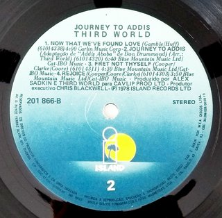 LP Third World - Journey to Addis (Original BR Press) [VG+] - Subcultura