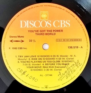 LP Third World - You've Got The Power (Original BR Press) [VG+] na internet