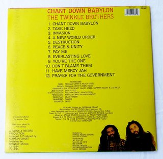 LP Twinkle Brothers - Chant Down Babylon (Original Press) [VG+] - comprar online