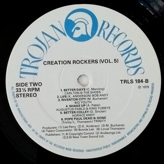 LP V.A. - Creation Rockers Vol. 5 (Original Press) [VG+] - Subcultura