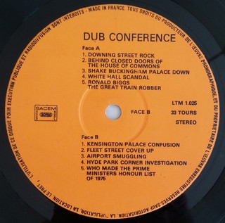 LP Winston Edwards & Blackbeard - Dub Conference (At 10 Dowing Street) (Original Press) [VG+] - loja online