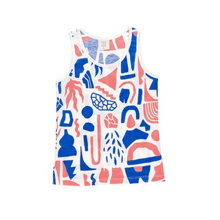 MUSCULOSA UNISEX LATIN AZUL Y CORAL JERSEY