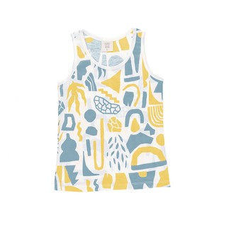 MUSCULOSA UNISEX  LATIN AMARILLO Y GRIS JERSEY