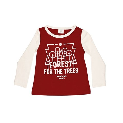 REMERA COMBINADA FOREST BORDO CON CEMENTO