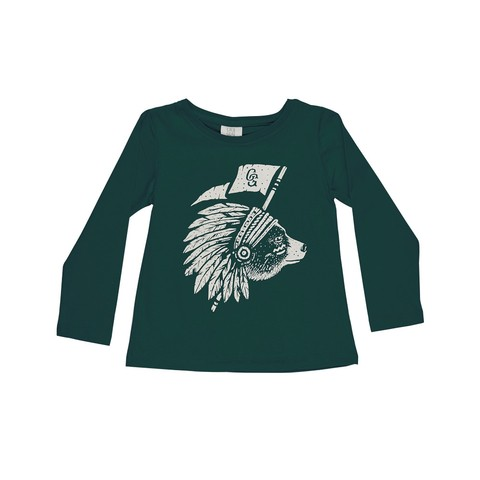 REMERA JEFE OSO VERDE