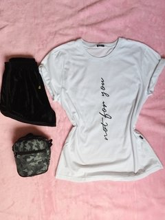 Tshirt premium not for you feminino estilo blogueira tumblr