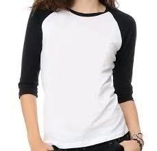 22c90104b4 Camiseta Raglan feminina manga 3 4 - MG Confecção