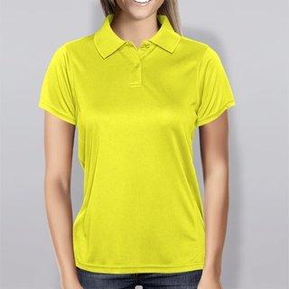 Polo baby look amarelo canario