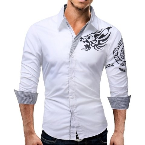 Camisa Estilo Dragon na internet