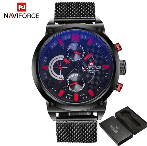 Relógio Naviforce Estilo Sport Fashion