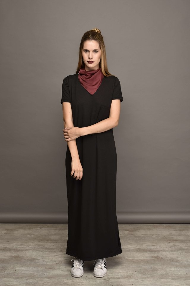 f841a4e7d0 Vestido negro largo sport – Hermosos vestidos