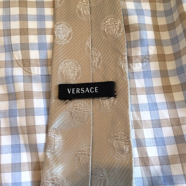 VERSACE Gravata Bege - LUX Shopping Vip On-line