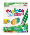 Lapices Color Carioca Tita Erasable X 24