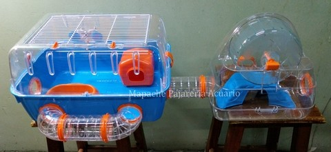 Jaula hamsters doble compartimento