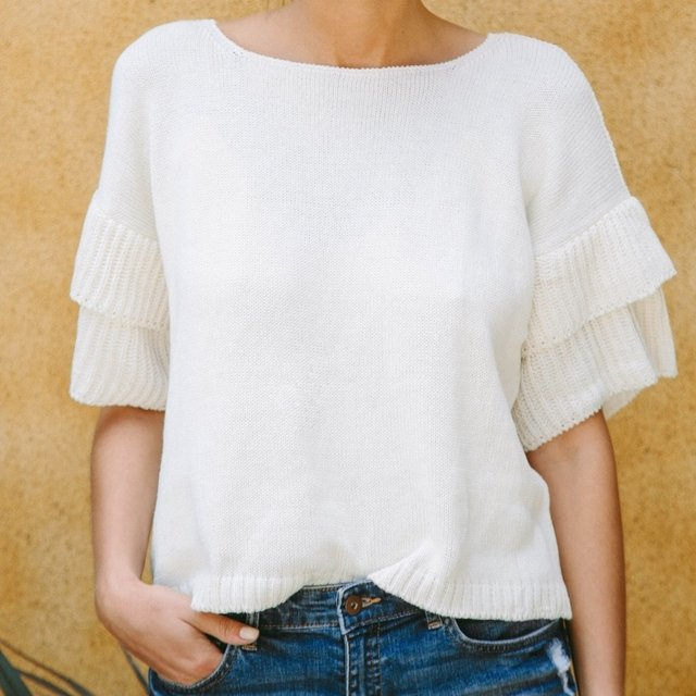 Sweater Menorca White - Wihelmina
