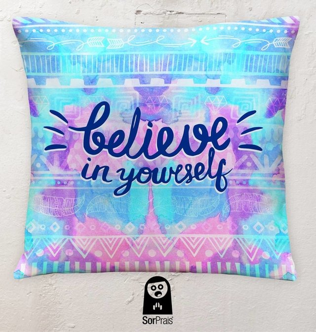 BELIEVE IN YOURSELF Almohadón Cuadrado - comprar online
