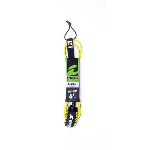 Leash 6' x 6 mm amarelo girador duplo Evos