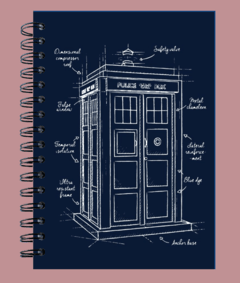 Anillado Blueprint TARDIS Dr.Who