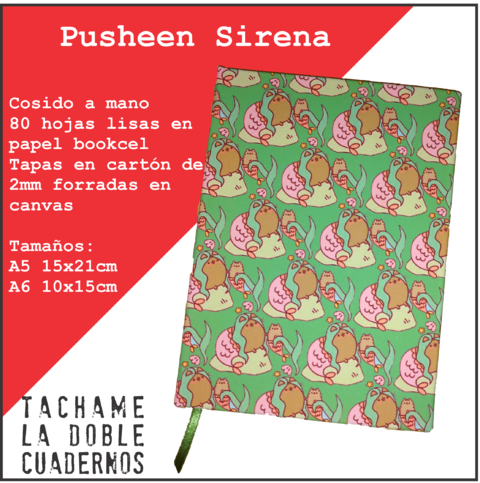 Cosido Pusheen Cat Sirena