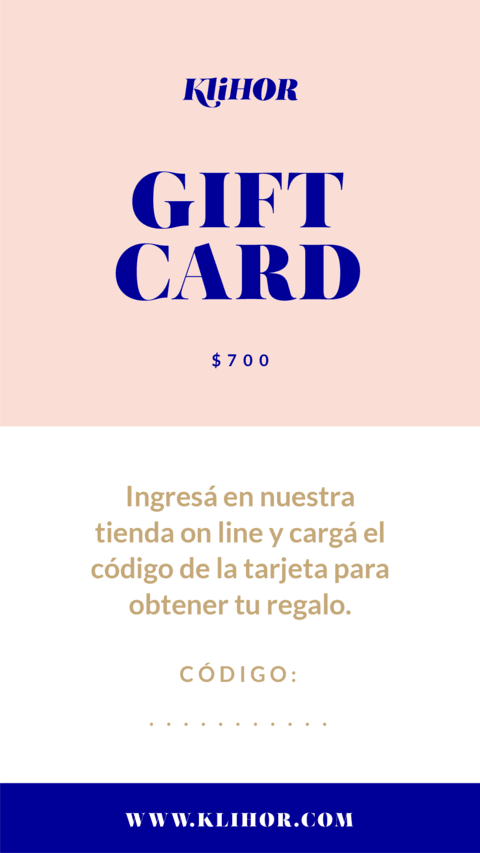 GIFT CARD / REGALA KLIHOR