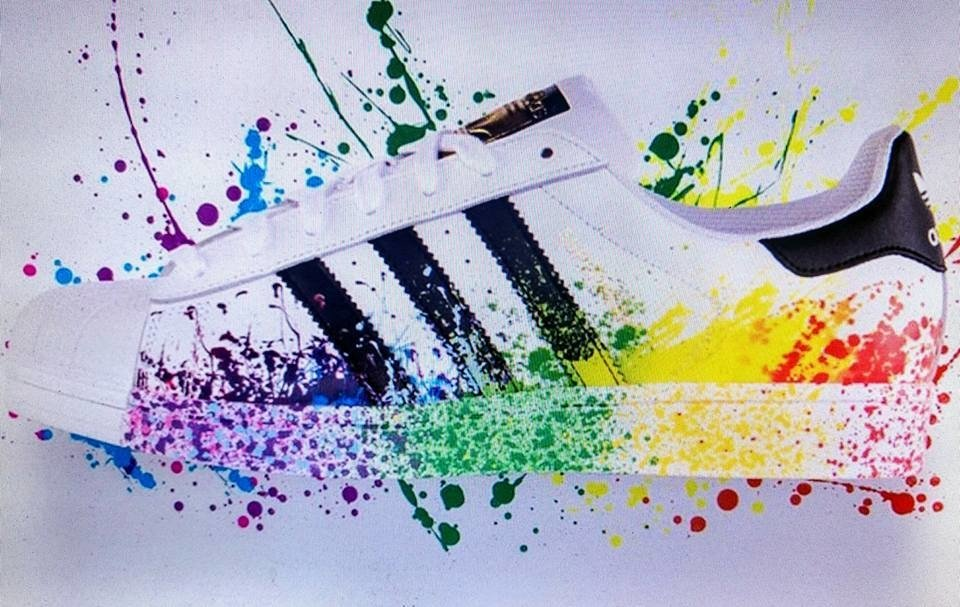 adidas superstar pintadas