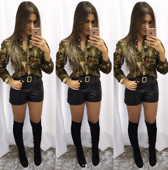 Shorts Courino Preto