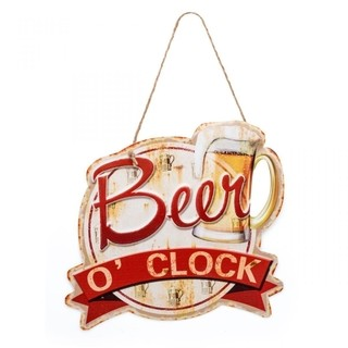 Placa Beer O`Clock