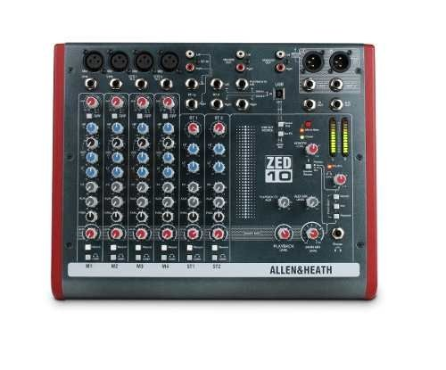 Mixer Consola Allen & Heath Zed 10 De 6 Canales Fact A Y B