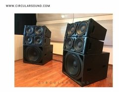 Sistema Line Array 1400 Watts 2 Parlantes 10  + Driver 1,5 - circularsound