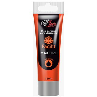 Facilit Max Fire Óleo Anestésico Anal que Aquece 15ml Soft Love