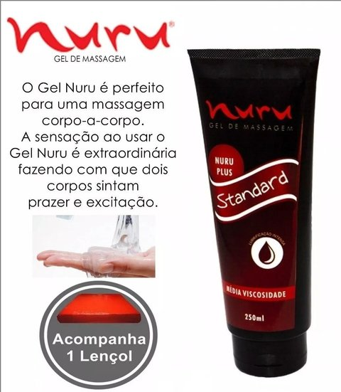 Lubrificante Sexual Gel Nuru Massagem (Kit Gel + Lençol)