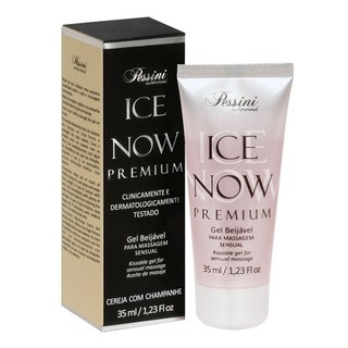 Gel Térmico Beijável Ice Now Premium CEREJA C/ CHAMPANHE 35ML