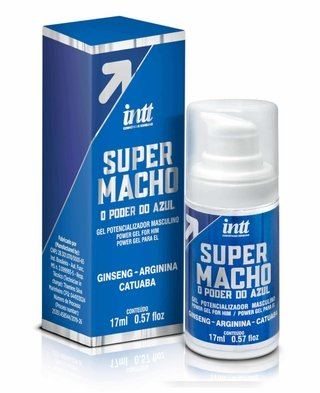 SUPER MACHO INTT - GEL Potencializador Masculino com o Poder do Azul - 17 ML