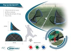 Pop Up Gol - Par de Arcos -  (1,83x1,22 mts) - comprar online