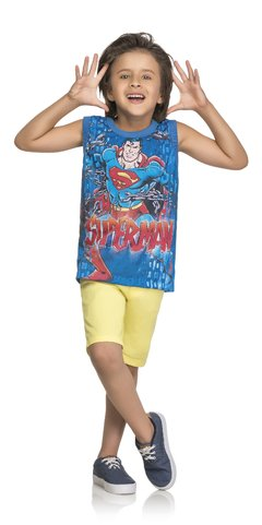 Camiseta Infantil Regata Superman - 82064 - KAMYLUS