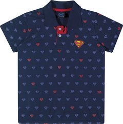 CAMISETA POLO MASC. SUPERMAN 4/10 - 82085 - KAMYLUS
