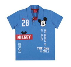 Camiseta Infantil Mickey Polo - Azul Royal - Kamylus