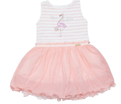 VESTIDO ROSE FLAMINGO 1/4 - 2797 - ANUSKA