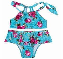 BIQUINI TOP AZUL FLORAL TIP TOP 4682008