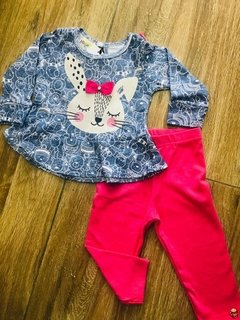 CONJUNTO BLUSA SUE E LEGGING COTTON - 20496- HAVE FUN