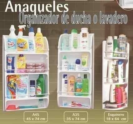 Anaquel Organizador Chico Baño O Lavadero Plástico 2c5c1e594032