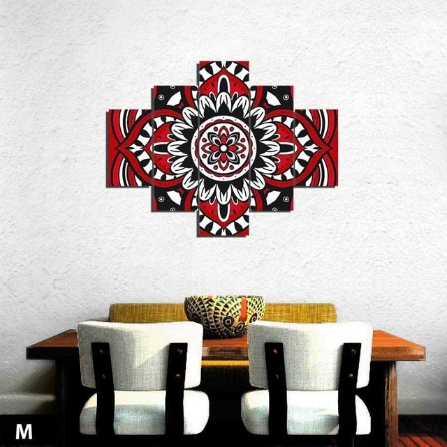 Mandala Hang Red cuadros decorativos en internet