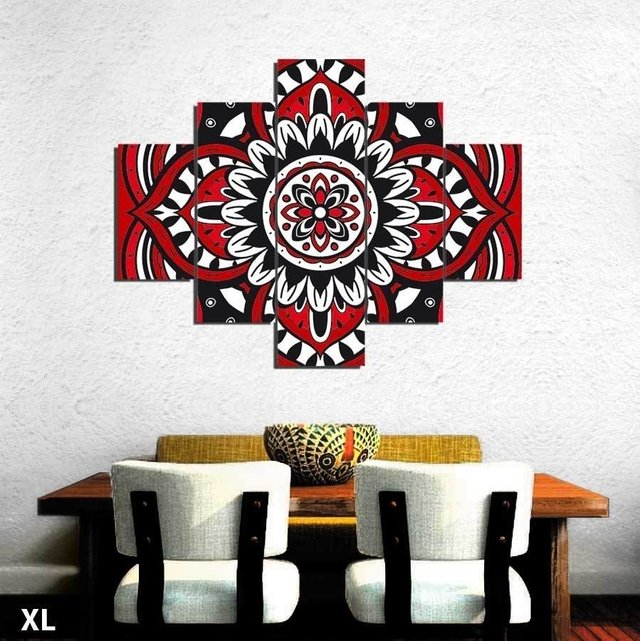 Mandala Hang Red cuadros decorativos - comprar online