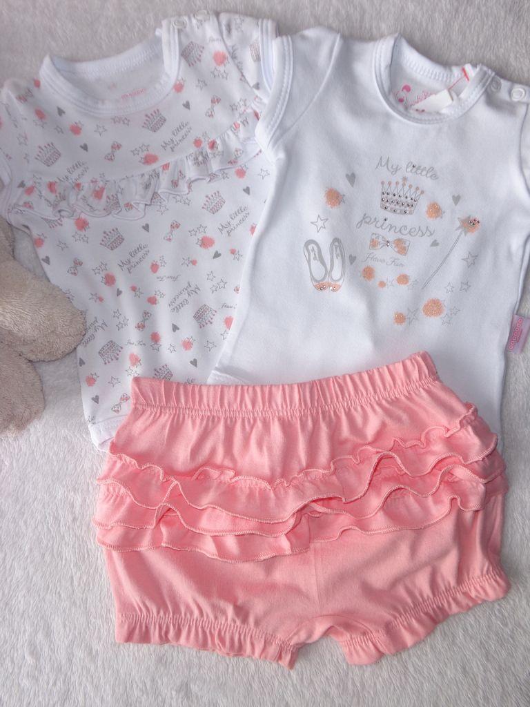 775785e83d Kit 3 Peças Conjunto Body e Calça Bebê menina em Cottom e 1 2 malha Have  Fun HF0228