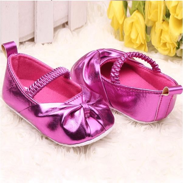 2efdda9084 Sapato bebê menina Pink Brilhante SP0001