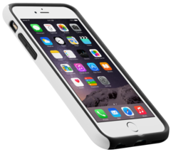 Capa Double Layer PRO Branco e Preto iPhone 6 6S - 1WEBK