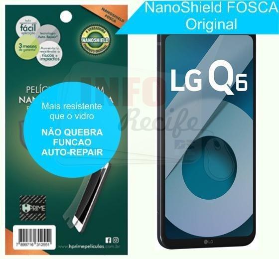 57f7dff0fa Película HPrime NanoShield Fosca LG Q6   Q6 Plus - 3214
