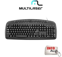 Teclado Multimídia Corporativo Multilaser USB - TC150