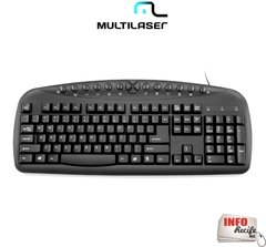 Teclado Multimídia Corporativo Multilaser USB - TC150 - comprar online