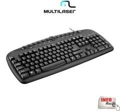 Teclado Multimídia Corporativo Multilaser USB - TC150 na internet